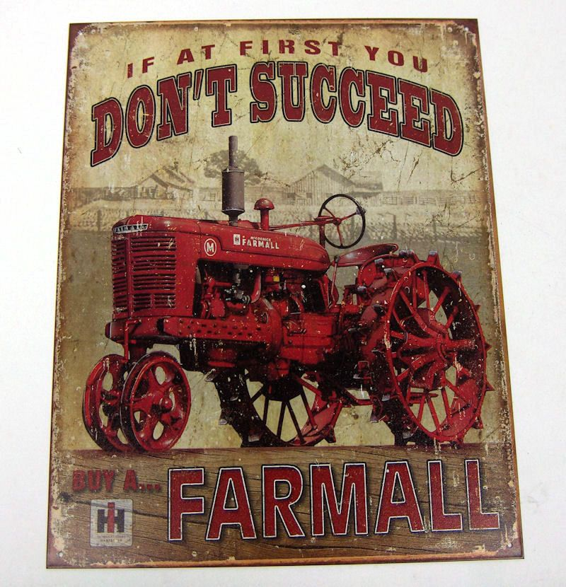 This is an IH Farm metal tin sign Farmall Tractors Distressed retro Vintage Look