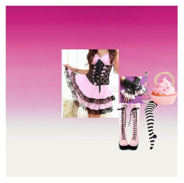 """""""nightmare cupcake"""" by korol01555 ❤ liked on Polyvore featuring Alessandra Rich"""