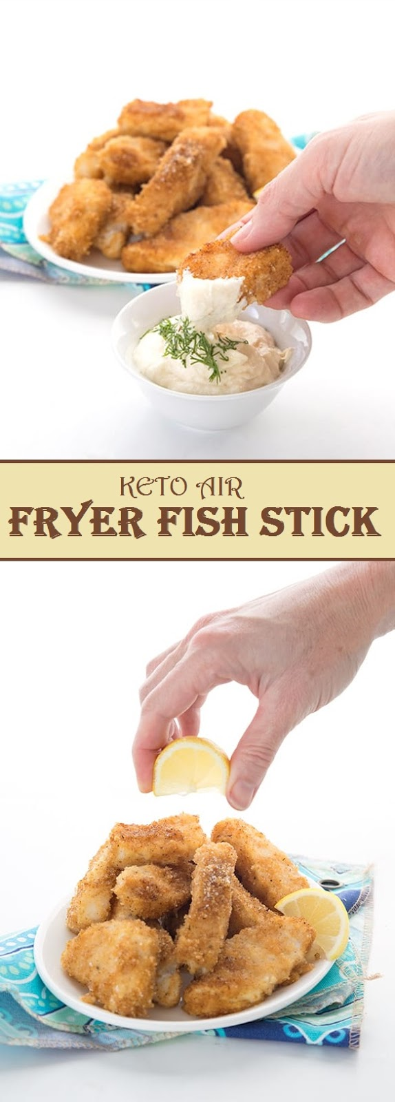 Keto air Fryer Fish Sticks Air fryer fish