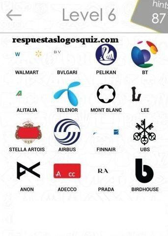 Todas Las Soluciones Para El Nivel 6 De Logos Quiz La Solucion Logotipos