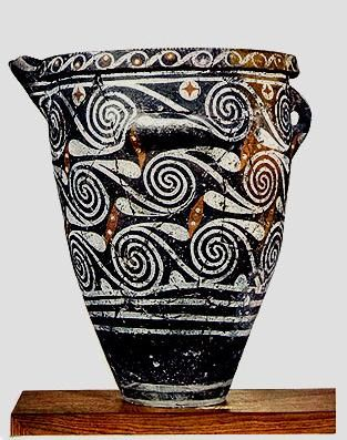 The Kamares-style was the first polychrome Minoan artwork on pottery
