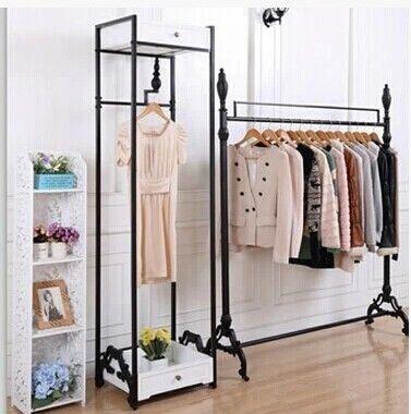 Hierro ropa perchero bastidores exhibici n de la tienda - Percheros para colgar ropa ...