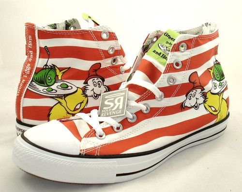 NEW Converse DR Seuss CAT IN THE HAT Green Eggs AND HAM Shoes Chuck Taylor   6ba103a2c