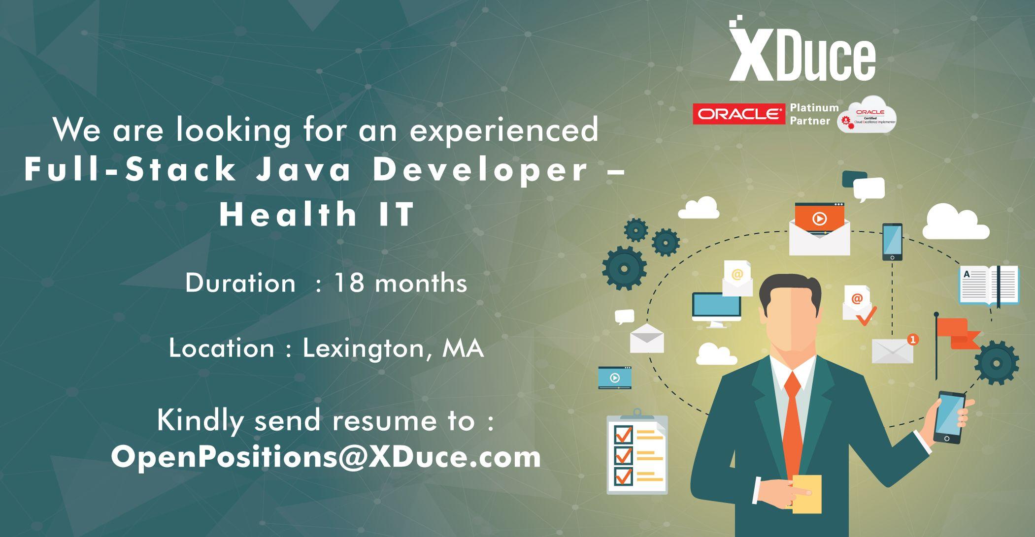 Looking for a senior fullstack java developer to work