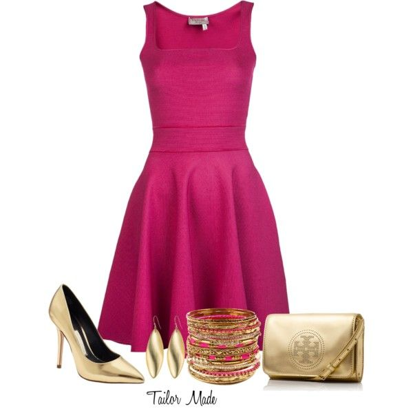 """""""Pink & Gold"""" by taliormade on Polyvore"""