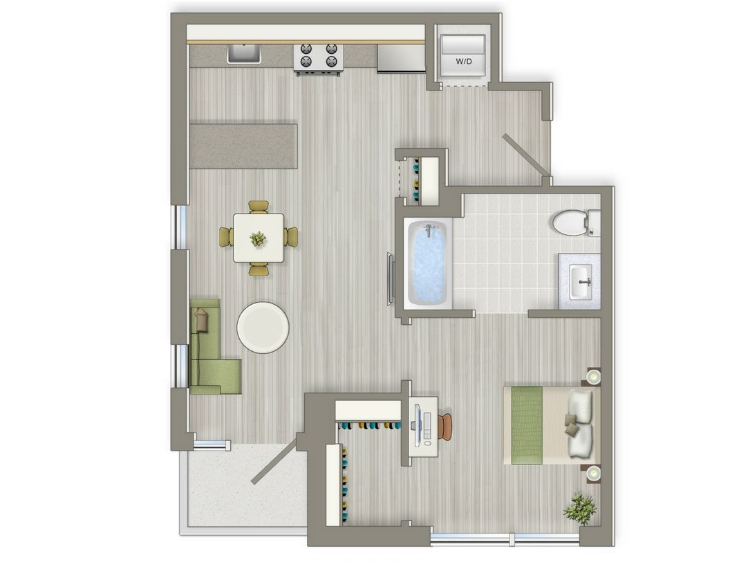 One Bedroom Floorplans Ideal For Cohabiting One Bedroom Layouts Great For 2 People Lots Of Closet Space An E Floor Plans One Bedroom One Bedroom Apartment