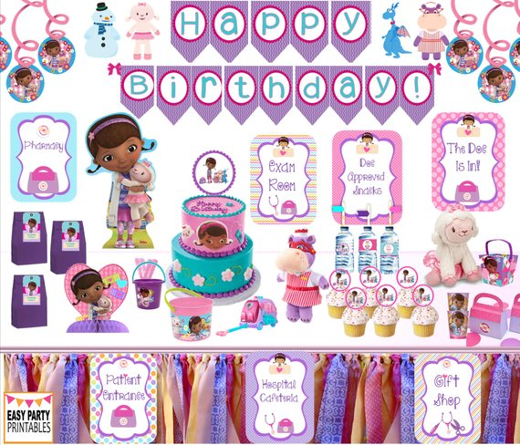 Doc Mcstuffins Party Signs Gift Shop Instant Download Exam Room