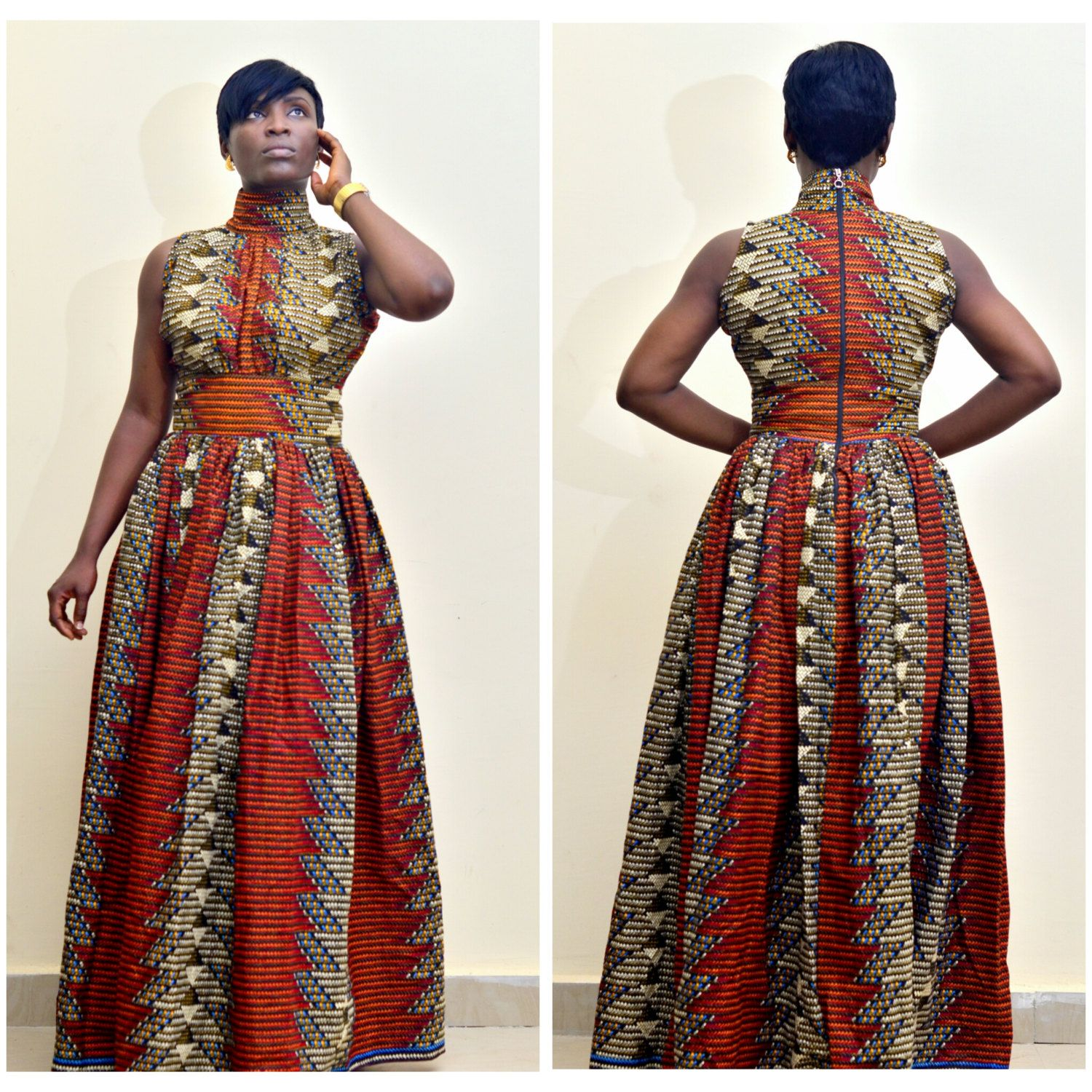 The Alicia African Print Dress African maxi dress african clothing ...