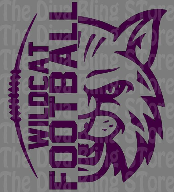 Download Wildcat Football Half Face SVG File | Spirit shirts ...