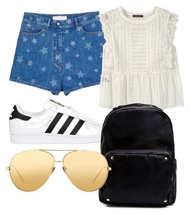 """""""Untitled #897"""" by fashionsparkles11 on Polyvore featuring Valentino, Violeta by Mango, adidas Originals, Madden Girl and Linda Farrow"""