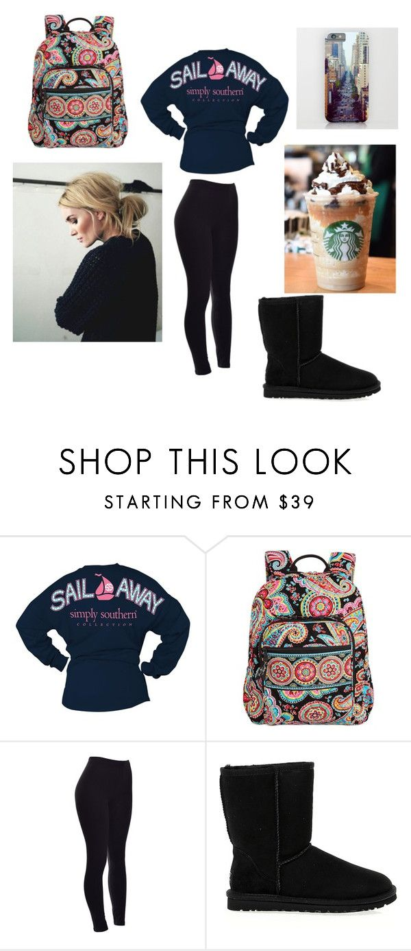 """""""Basic White Girl School Outfit"""" by arden-fincher on Polyvore featuring Vera Bradley, UGG Australia, women's clothing, women's fashion, women, female, woman, misses and juniors"""