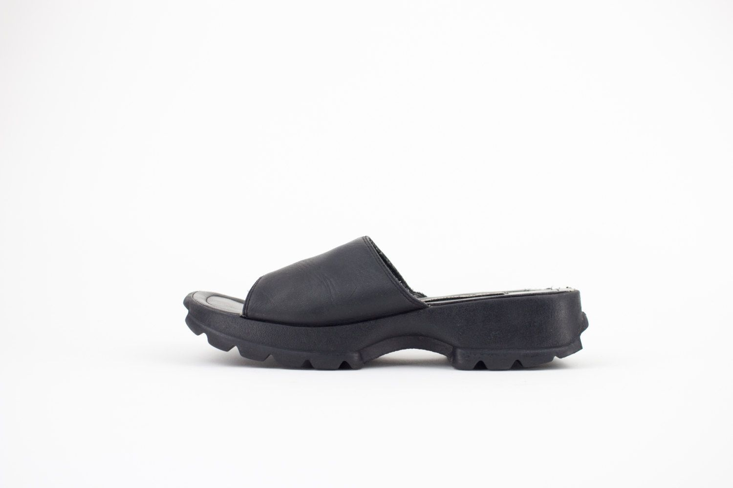 90s Vintage Steve Madden Sandals | Chunky Slides | Womens Size US 6 UK 4  Euro