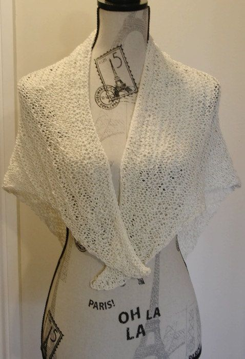Super Easy Knitting Shawl pattern chart, Knit Shawl , reading shawl ...