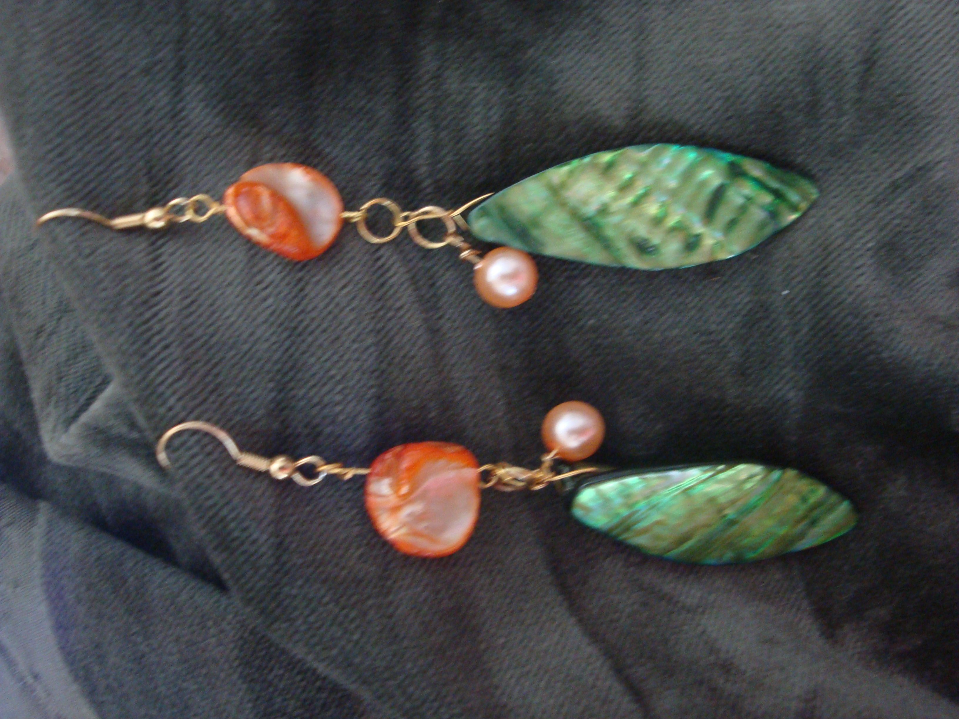 fun mother of pearl earings