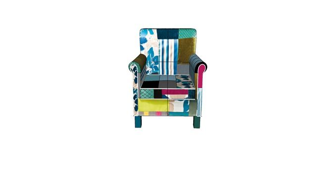 77852 Kare Arm Chair Patchwork Stripes Sessel Patchwork Stripes 3d Warehouse With Images Patchwork Chair