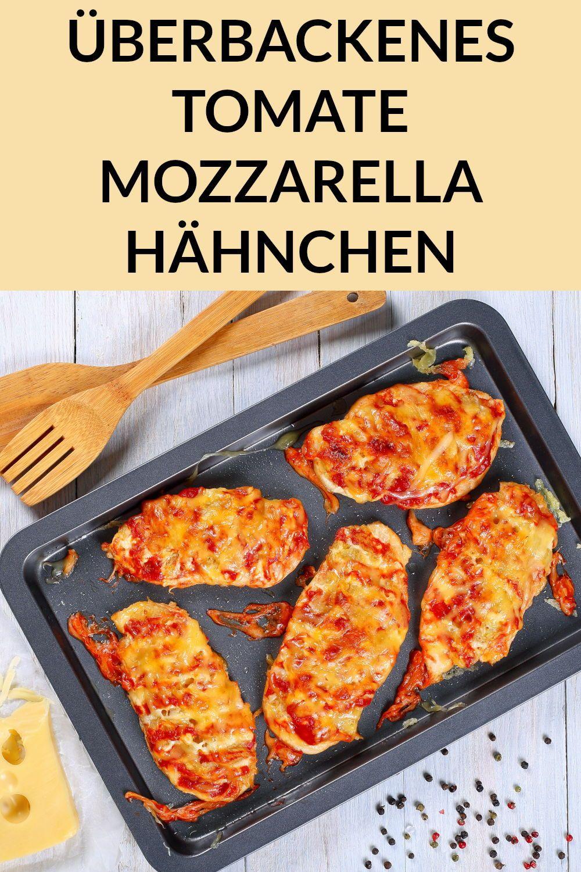 Gesundes Low Carb Abendessen: Tomate Mozzarella Hähnchen vom Blech