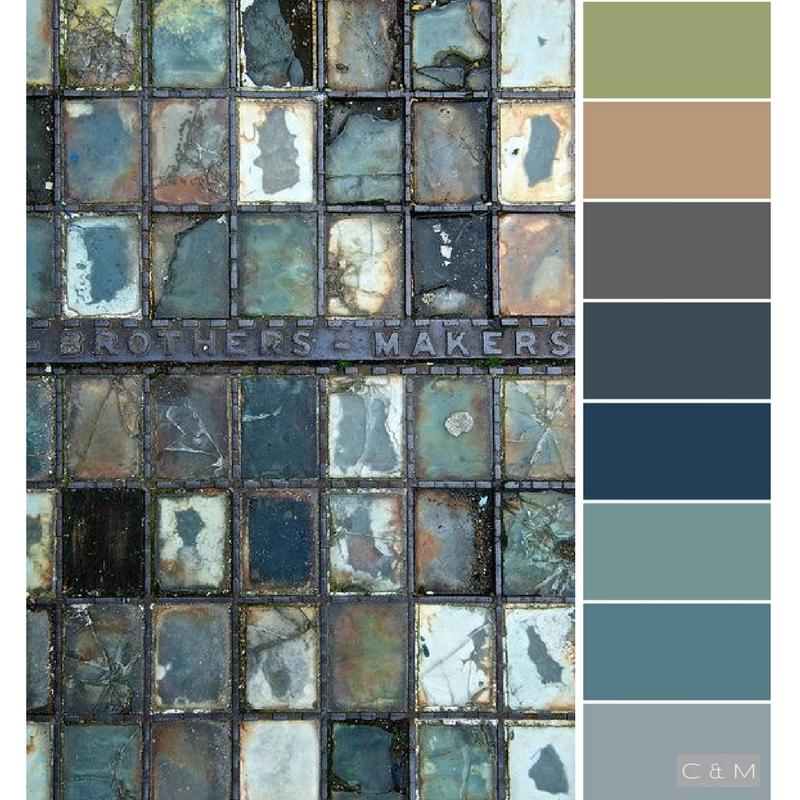 Grau Wandfarbe Farbpalette: Wandfarbe, Farbkonzept, Farbkombinationen