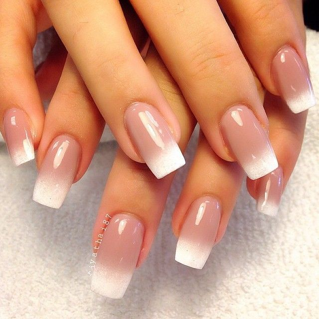 50 Amazing French Manicure Designs Cute French Nail Art 2018