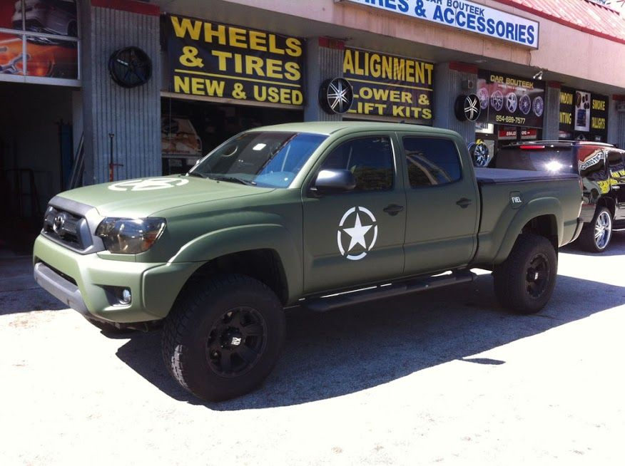 military green toyota truck | Matte Military Green Toyota Tacoma ...
