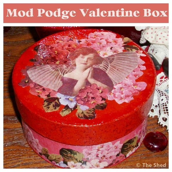 vintage style decoupage box for valentine s day, crafts, decoupage, seasonal holiday d cor, valentines day ideas, Even though the hydrangeas are not blooming outside this time of year I still couldn t resist using them here