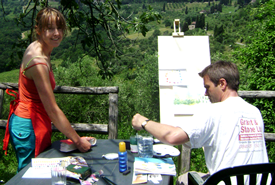 Challenge yourself with a creative experience #painting #art #holidays