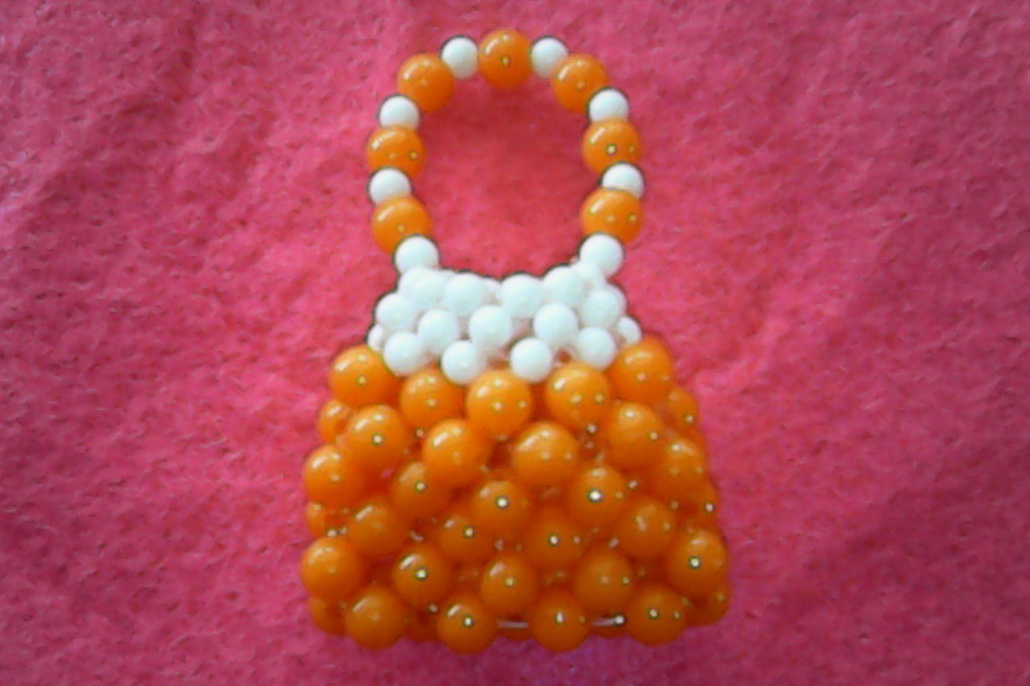 DIY-how to make orange bag of beads,cara membuat orange tas dari ...