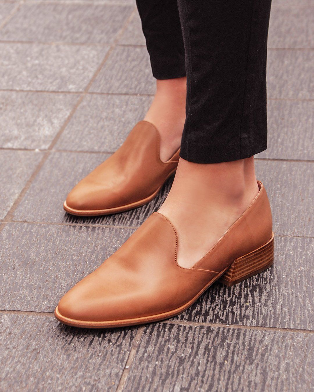 Xandera Loafers Light Tan Leather in