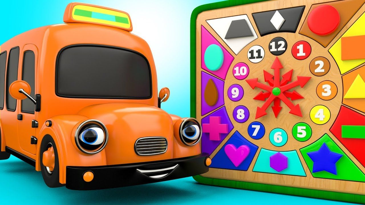 Car toys for toddlers  Learn Shapes And Numbers With Street Vehicles Wooden Clock Toys For