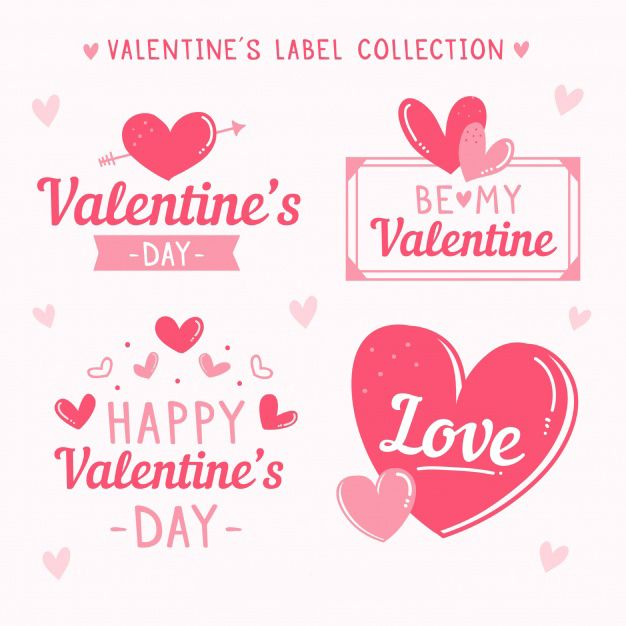 Hand Drawn ValentineS Day LabelBadge Collection Free Vector Http
