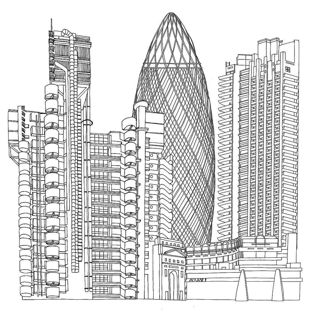 London Architecture Lloyds Building The Gherkin Barbican These Are My Favourite Buildings In Lon They
