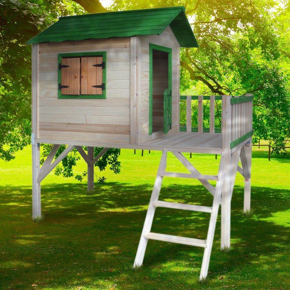 Brast Spielhaus Fur Kinder Mit Balkon Stelzenhaus Garten Baum Turm Holzhaus Ebay Stelzenhaus Kinder Spielhaus Spielhaus Garten