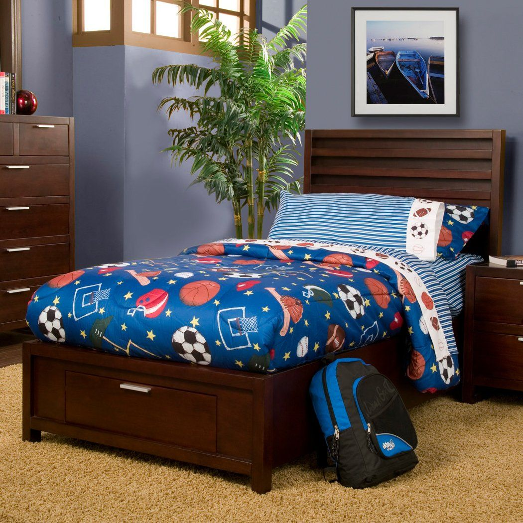 Alpine Furniture TA12T Camarillo Youth Storage Platform