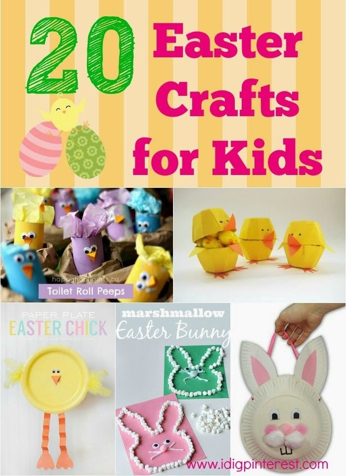 pinterest crafts for kids | 20 Fun & Simple Easter Crafts for Kids