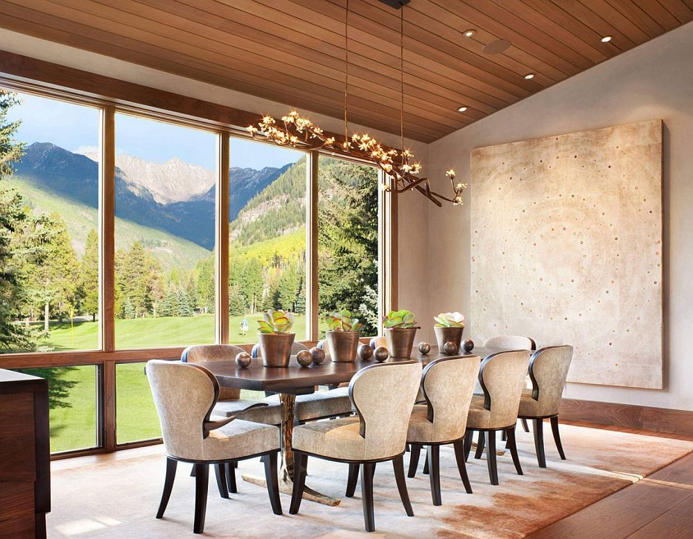 Rustic Modernity Enthralling Vail Mountain Home Leaves