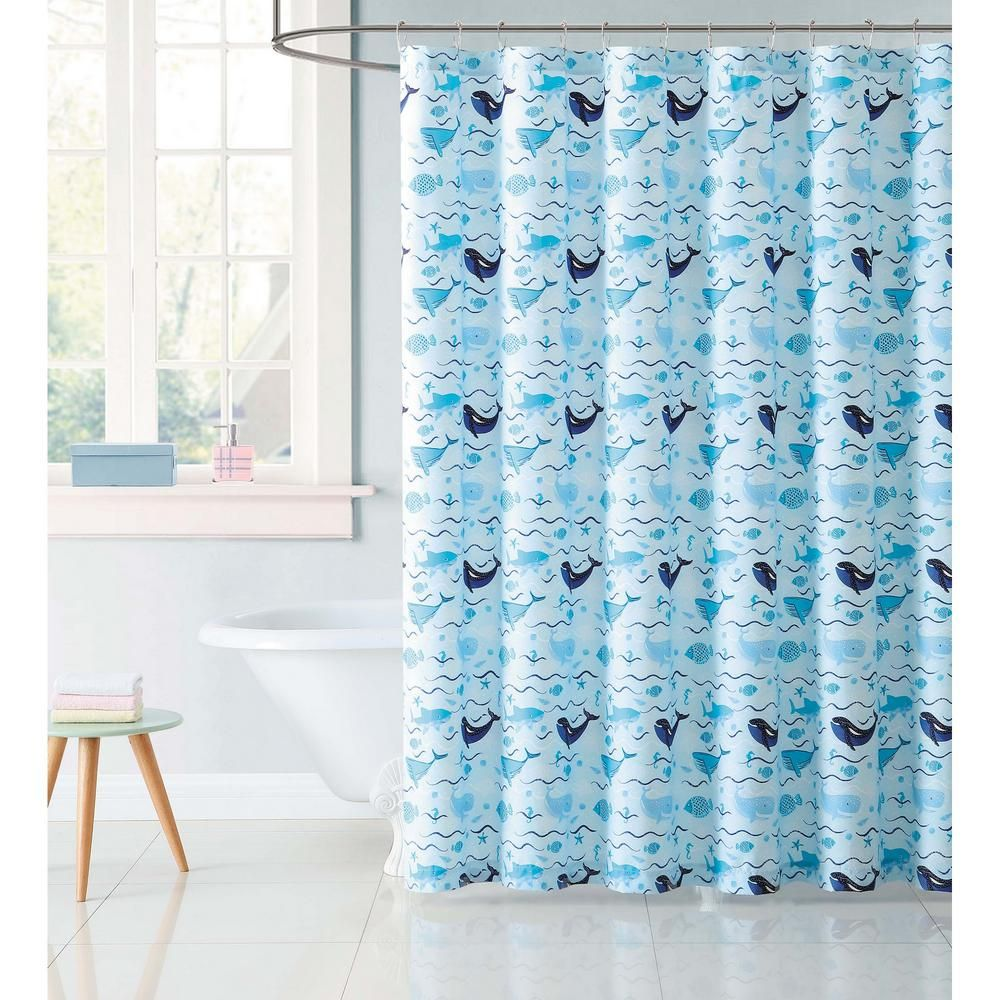 Laura Hart Kids 72 In Deep Blue Sea Shower Curtain Multiple