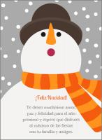 Elige esta tarjeta de navidad muneco nieve naranja www.labellecarte.com