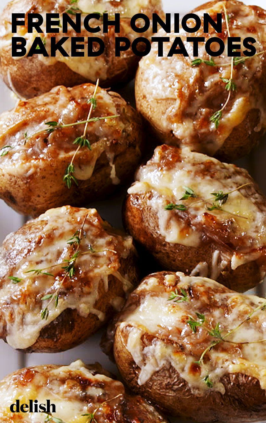 Onion Baked Potatoes We're DYING Over These French Onion Baked PotatoesDelishWe're DYING Over These French Onion Baked PotatoesDelish