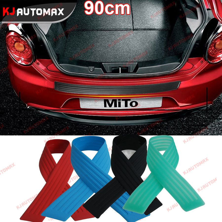 90cm PVC Rubber Rear Guard Bumper Protector Trim Cover For