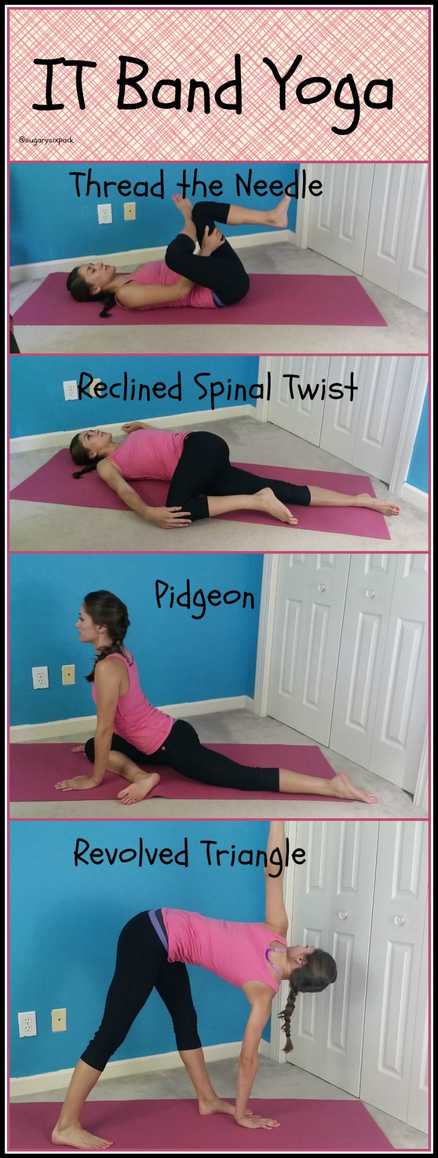 IT Band Yoga Stretch it Out  Stretch for knees sake  Pinterest