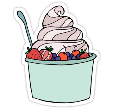Frozen Yogurt Sticker By Liana Spiro Hipster Stickers Tumblr Stickers Hydroflask Stickers