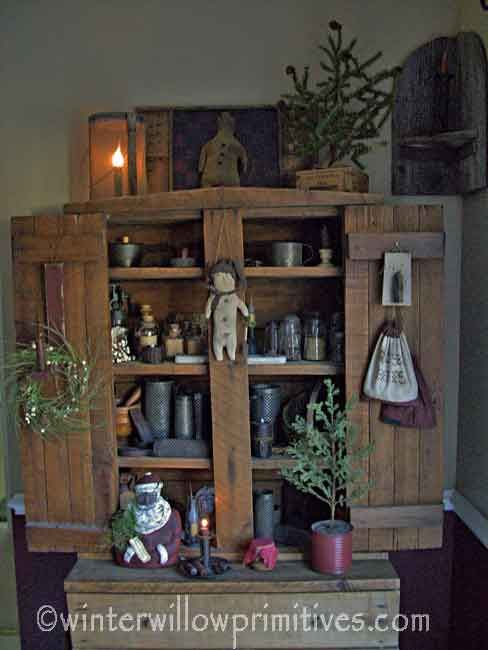 primitive christmas decor ideas winter willow primitives under the willow - Pinterest Primitive Christmas Decorating Ideas