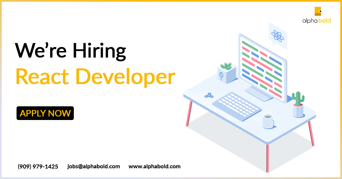 Job Alert: REACT DEVELOPER – AlphaBOLD is looking for a