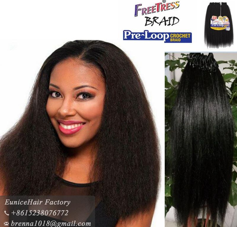 Freetress pre loop crochet braids yaky straight freetress equal hair pmusecretfo Image collections
