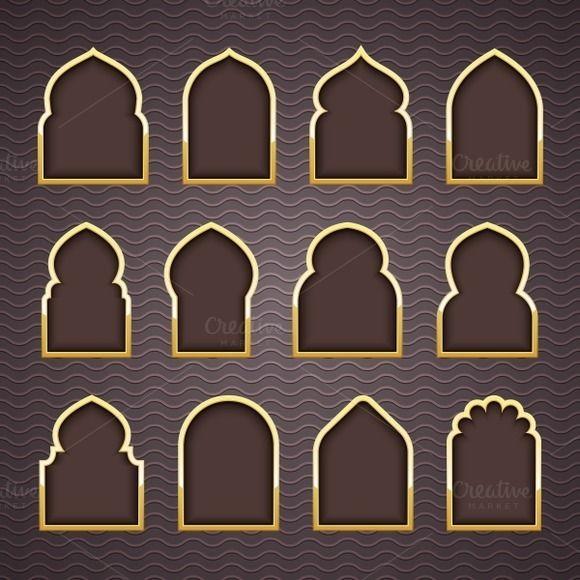 Design arab windows creativework247 photoshop objects for Window design template