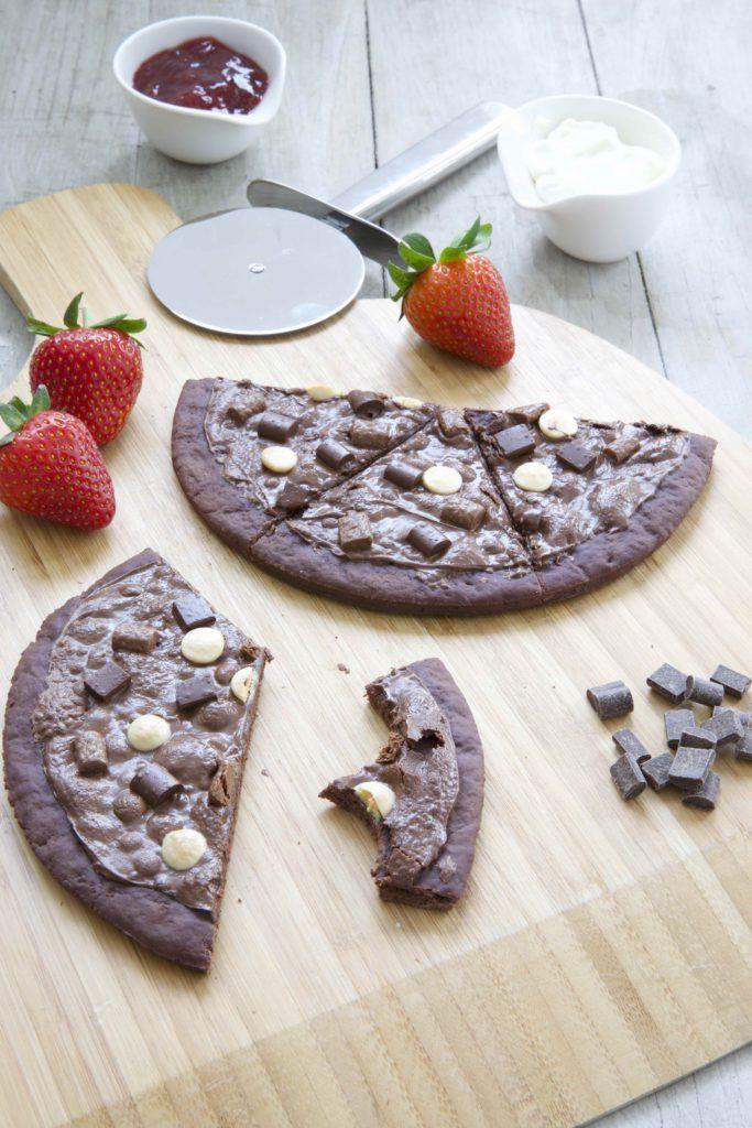Süße Schokoladenpizza Rezept Blogger Partyrezepte