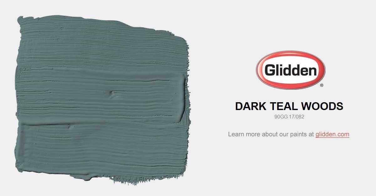 Dark Teal Woods Paint Color - Glidden Paint Colors | House