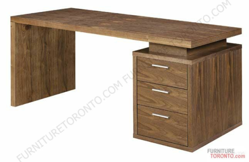Contemporary Walnut Home Office Desk 1095 Furniture