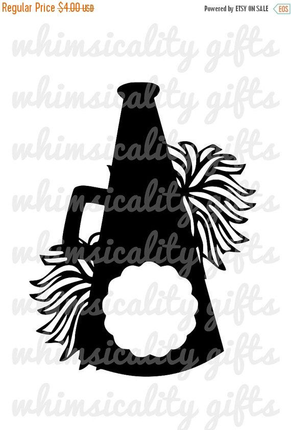 This Product Is A Compressed Zip Of Digital Files Svg Dxf Png Of Our Cheerleading Megaphone Cheerleading Megaphones Cheer Pom Poms Cheer Locker Decorations