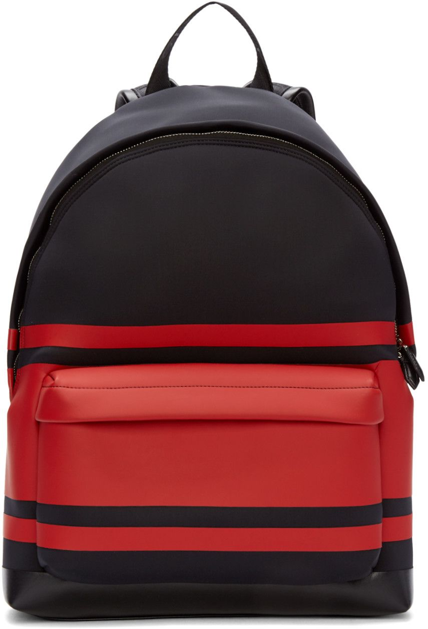 Shoes Neoprene Black Red amp; And Men's Bag Backpack Striped Givenchy IO0HwI