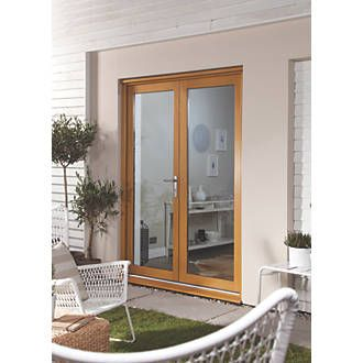 Jeld-Wen French Door Set Oak Veneer 1190 x 2090mm | French Doors | Screwfix  sc 1 st  Pinterest & Jeld-Wen French Door Set Oak Veneer 1190 x 2090mm | Door sets ...